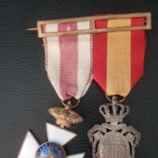 Militaria: PASADOR MEDALLAS SAN HERMENEGILDO E INSTITUTO DE PREVISION. Lote 230971470