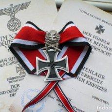 Militaria: CRUZ DE CABALLERO DE LA CRUZ DE HIERRO CON HOJAS DE ROBLE Y ESPAGAS. 1939. Lote 231360490