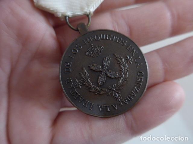 Militaria: Antigua medalla carlista de requete de la cruzada, guerra civil, original. - Foto 7 - 231394335