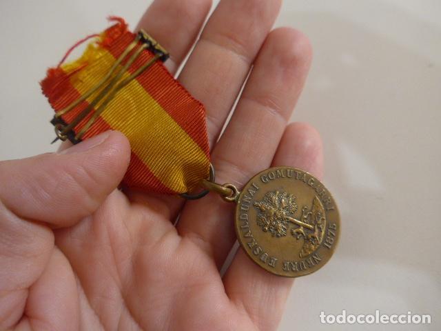 Militaria: Antigua medalla carlista vasca del arbol de gernika, 1875, original. - Foto 5 - 231394840