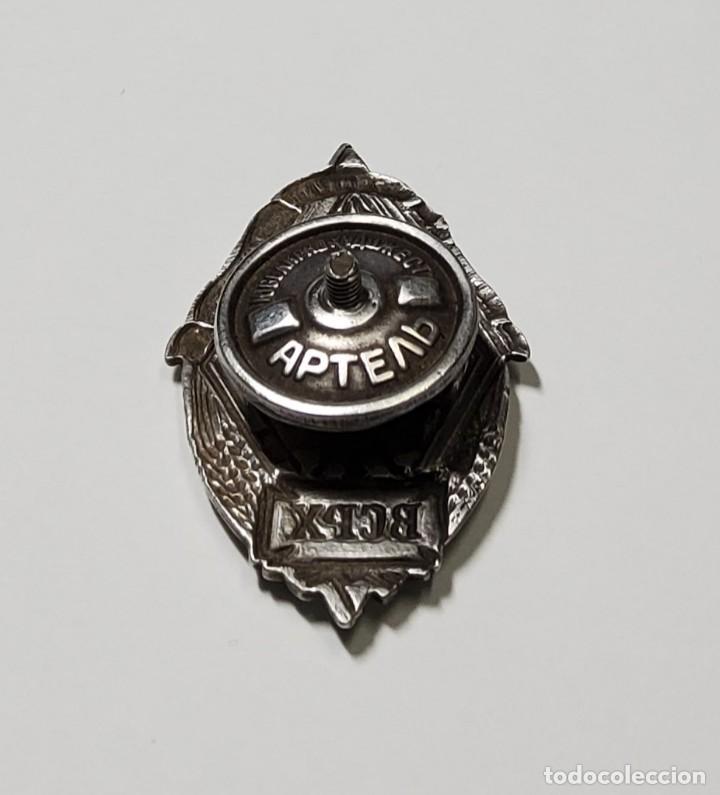 Militaria: RARA INSIGNIA DE PLATA AL MERITO del VSRH.Industria Quimica.ANTIGUA UNION SOVIETICA.AÑOS 1920-1930 - Foto 7 - 231543185