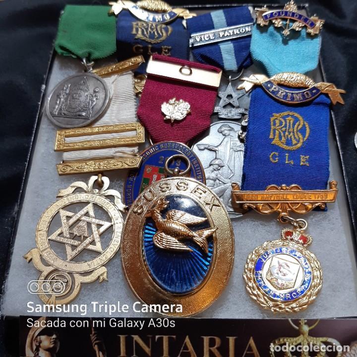 7 MEDALLAS DEL MÉRITO DE MASONERÍA BRITÁNICA (Militar - Medallas Internacionales Originales)