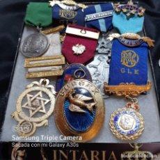 Militaria: 7 MEDALLAS DEL MÉRITO DE MASONERÍA BRITÁNICA. Lote 232661537