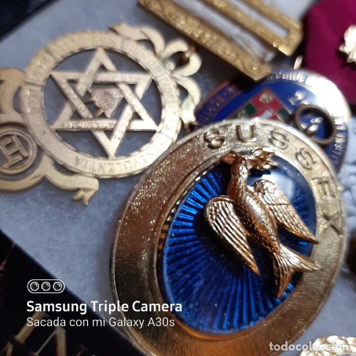 Militaria: 7 Medallas del mérito de Masonería británica - Foto 2 - 232661537