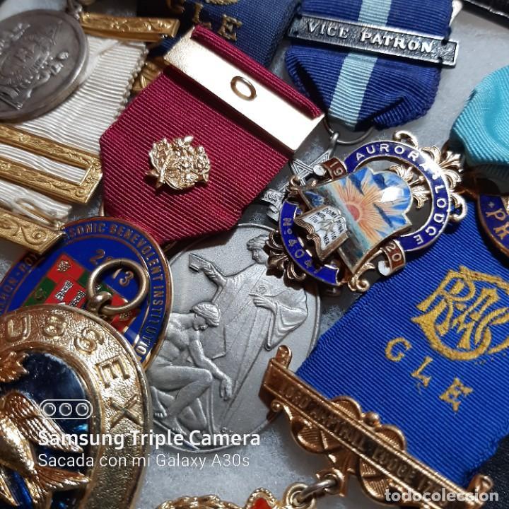 Militaria: 7 Medallas del mérito de Masonería británica - Foto 3 - 232661537