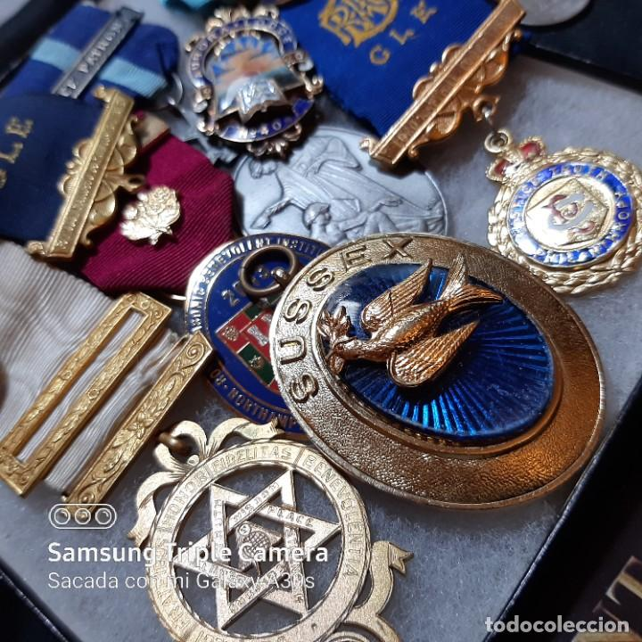 Militaria: 7 Medallas del mérito de Masonería británica - Foto 4 - 232661537