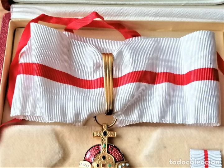 Militaria: ESTUCHE GRAN CRUZ CONDECORACION ORDEN RELIGIOSA-MILITAR,VENERA,OJAL Y MEDALLA.ESMALTE Y CORONA REAL - Foto 10 - 232920856