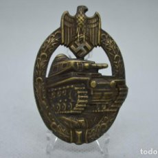 Militaria: WWII THE GERMAN BRONZE BADGE PANZER ASSAULT. Lote 254771325