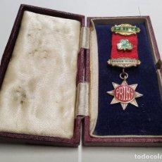 Militaria: MINIATURA DE PLATA MACIZA DE MUJER MASONICA INGLESA DE 1922.CAJITA ORIGINAL.EXTRAORDINARIO ESTADO. Lote 233437695