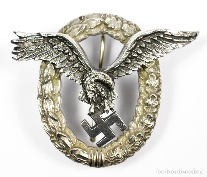 Militaria: Insignia Temprana de Piloto de la Luftwaffe de C.E Juncker, Berlin en su Estuche - Foto 2 - 233815015