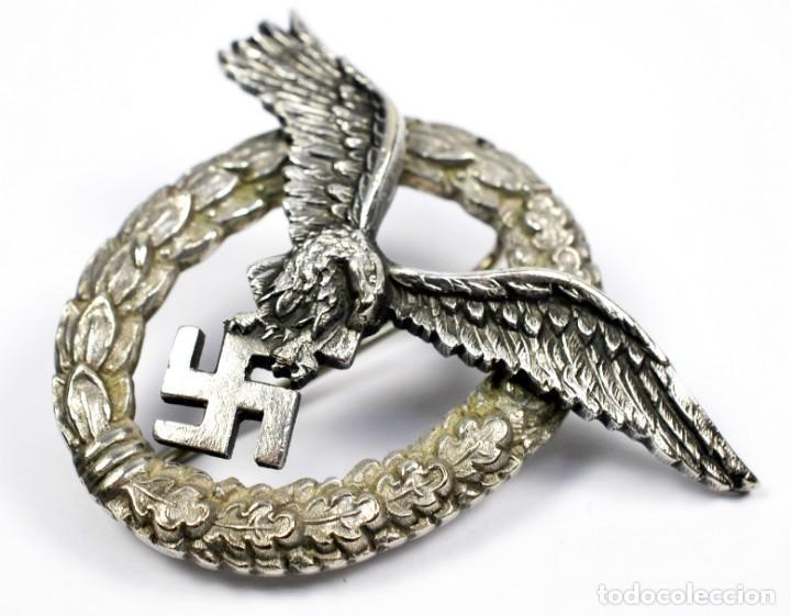 Militaria: Insignia Temprana de Piloto de la Luftwaffe de C.E Juncker, Berlin en su Estuche - Foto 3 - 233815015