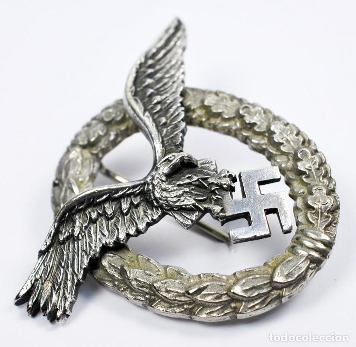 Militaria: Insignia Temprana de Piloto de la Luftwaffe de C.E Juncker, Berlin en su Estuche - Foto 16 - 233815015