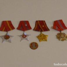 Militaria: LOTE 4 MEDALLAS DE LA GUERRA DE VIETNAM, COMUNISTAS.. Lote 234592080
