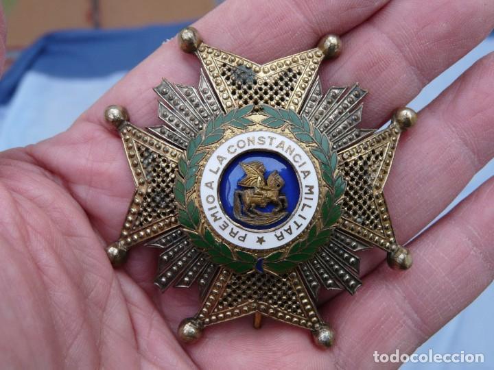 Militaria: ANTIGUA PLACA ORDEN DE SAN HERMENEGILDO EPOCA FRANCO - Foto 2 - 234704080