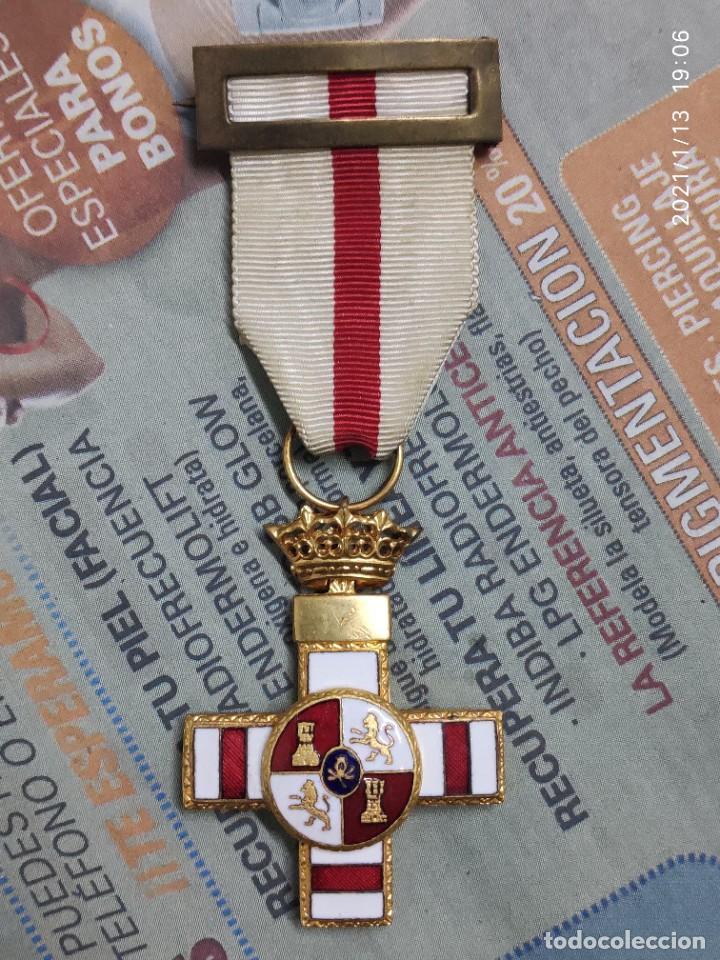MEDALLA MERITO MILITAR BLANCO (Militar - Medallas Españolas Originales )