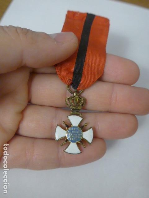 Militaria: Antigua medalla al merito contraido, 1834, epidemias. Original y rara. - Foto 7 - 234772165