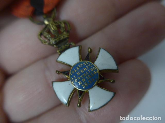 Militaria: Antigua medalla al merito contraido, 1834, epidemias. Original y rara. - Foto 9 - 234772165