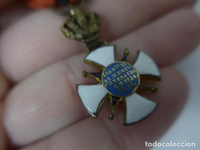 Militaria: Antigua medalla al merito contraido, 1834, epidemias. Original y rara. - Foto 12 - 234772165