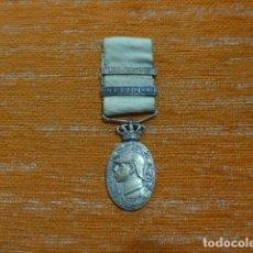 Militaria: ANTIGUA MEDALLA DE MARRUECOS CON PASADOR MELILLA Y LARACHE, CORONA MOVIL. ORIGINAL GUERRA DE AFRICA.. Lote 234807975
