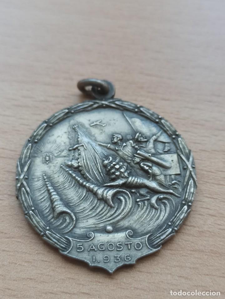 DIFÍCIL MEDALLA DEL PASO DEL ESTRECHO. GUERRA CIVIL (Militar - Medallas Españolas Originales )