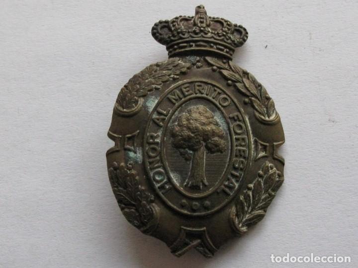 INSIGNIA HONOR AL MERITO FORESTAL , EPOCA ALFONSO XIII (Militar - Medallas Españolas Originales )