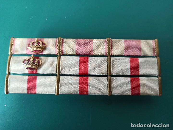 PASADOR DE DIARIO CON 9 CONDECORACIONES. (Militar - Medallas Españolas Originales )
