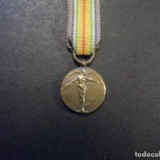 Militaria: MEDALLA INTERALIADA BELGA DE LA VICTORIA. LA GRAN GUERRA POR LA CIVILIZACION. AÑOS 1914-18 MINIATURA. Lote 235325055