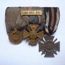 Militaria: PRUSIA / ALEMANIA: PASADOR DE 3 MEDALLAS DE VETERANO PRUSIANO DE LA PRIMERA GUERRA MUNDIAL. Lote 235339240