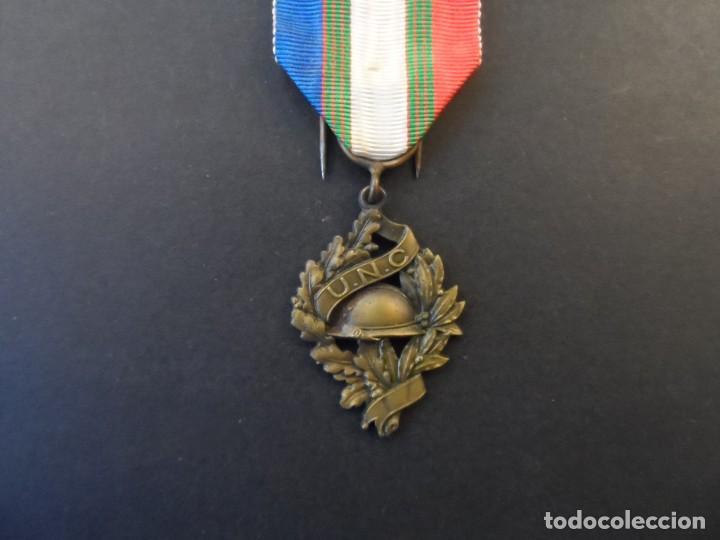 MEDALLA DE LA UNC. UNION NATIONALE DES COMBATTANTS DE LA 1ª GUERRA MUNDIAL 1914-18. REP. FRANCESA (Militar - Medallas Internacionales Originales)