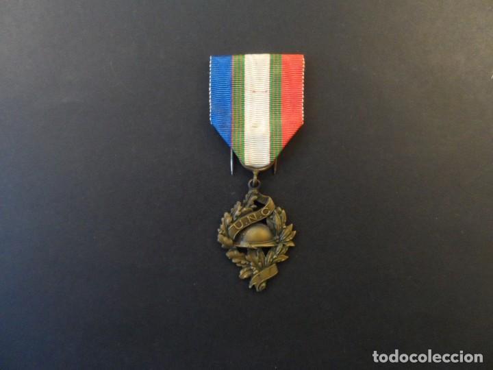 Militaria: MEDALLA DE LA UNC. UNION NATIONALE DES COMBATTANTS DE LA 1ª GUERRA MUNDIAL 1914-18. REP. FRANCESA - Foto 2 - 235651580