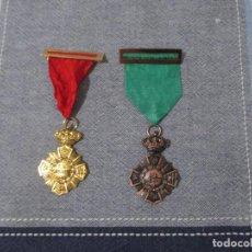 Militaria: LOTE DOS MEDALLAS AL MERITO REPRODUCCIONES IDEALES PARA TEATRO,RECREACIONES O CARNAVALES. Lote 236128005