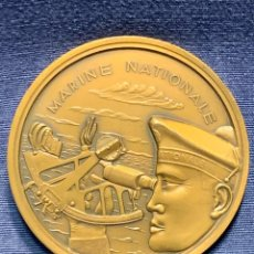 Militaria: MEDALLA MILITAR MARINA NACIONAL FRANCIA ALMIRANTES CABANIER A MELENDEZ BOJAR 1964 RAUL BERCK 7CMS. Lote 236696690