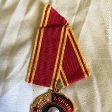 Militaria: MEDALLA MILITAR ORDEN DE LENIN MEDALLA SOVIÉTICA SOVIÉTICA DE RUSIA PREMIO MÁS ALTO. Lote 237466800