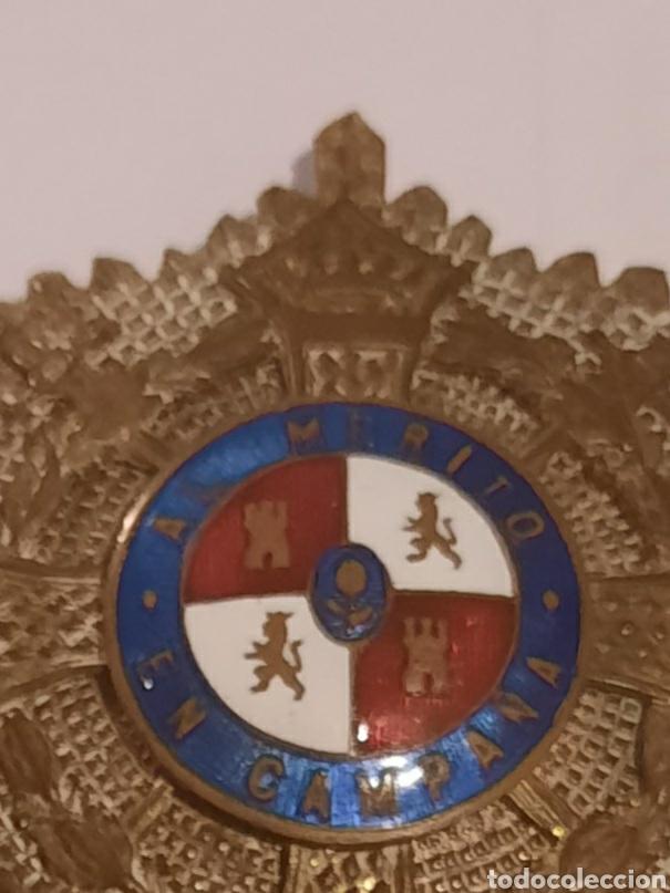 Militaria: Placa medalla militar Española al mérito en campaña - Foto 2 - 237592915
