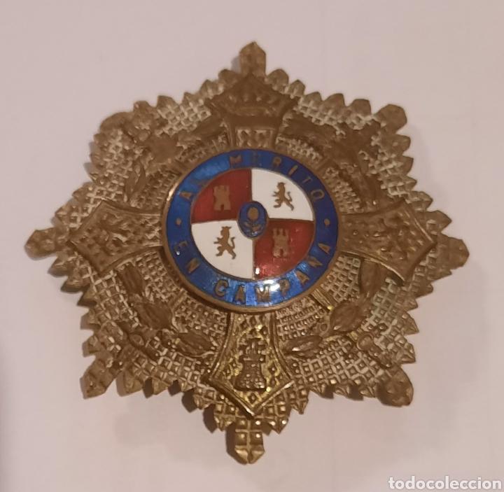 PLACA MEDALLA MILITAR ESPAÑOLA AL MÉRITO EN CAMPAÑA (Militar - Medallas Españolas Originales )
