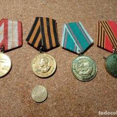 Militaria: LOTES CUATRO MEDALLAS RUSAS. Lote 237660245