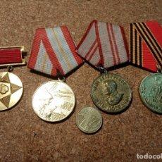Militaria: LOTES CUATRO MEDALLAS RUSAS. Lote 237660345