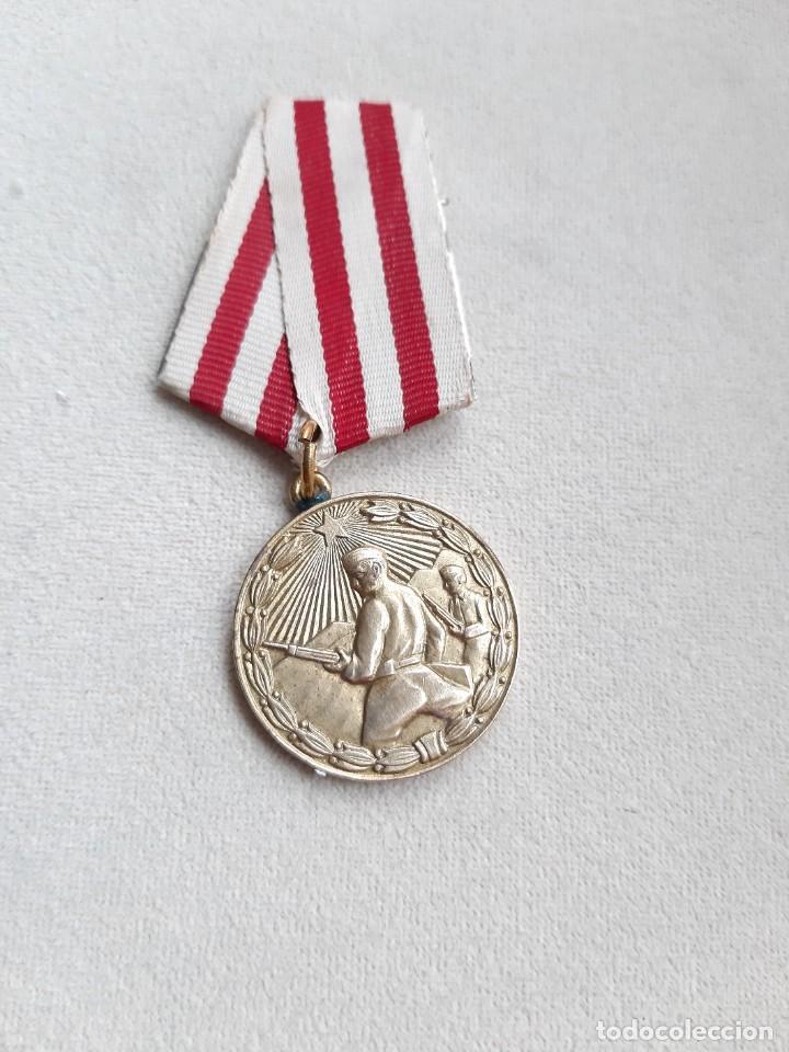 4. ALBANIA. MEDALLA DE LA LIBERACIÓN.1945 (Militar - Medallas Internacionales Originales)