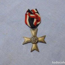 Militaria: * ANTIGUA MEDALLA CRUZ DE GUERRA SIN ESPADAS ALEMANA NUMERADA 60, ALEMANIA II GUERRA MUNDIAL. ZX. Lote 238003685