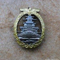 Militaria: INSIGNIA FLOTTEN-KRIEGSABZEICHEN GOLD TERCER REICH. Lote 238861140