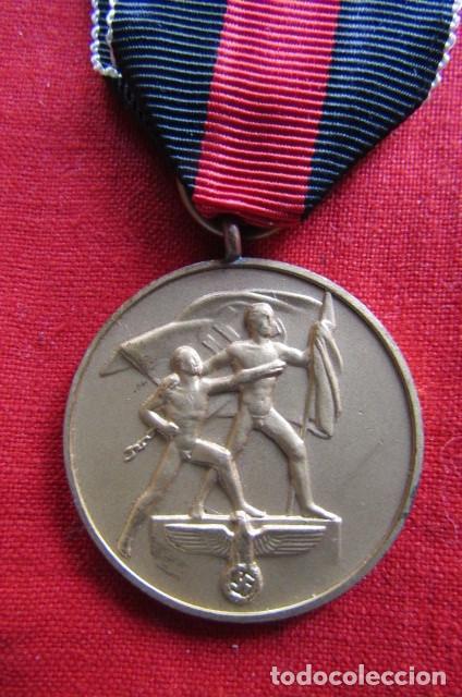 Militaria: Medalla condecoración alemana anexión de los Sudetes II segunda guerra mundial III reich alemán - Foto 2 - 239376530