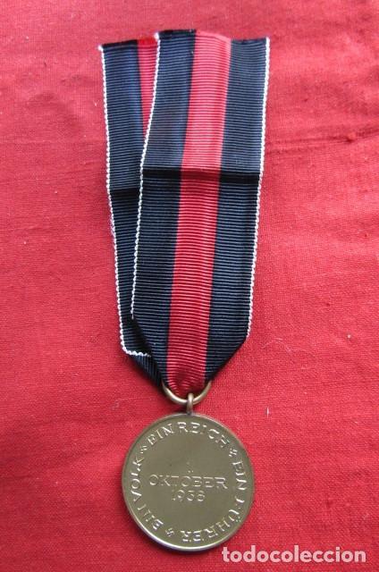 Militaria: Medalla condecoración alemana anexión de los Sudetes II segunda guerra mundial III reich alemán - Foto 3 - 239376530