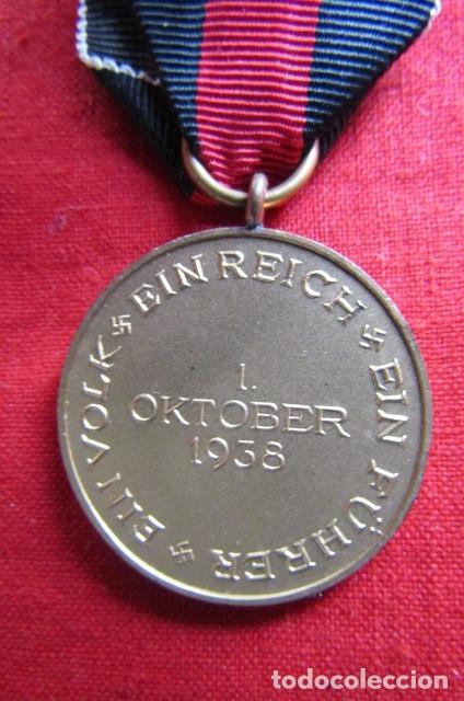 Militaria: Medalla condecoración alemana anexión de los Sudetes II segunda guerra mundial III reich alemán - Foto 4 - 239376530