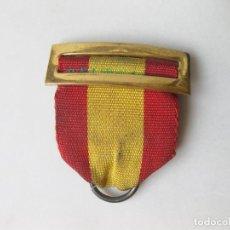 Militaria: PASADOR CON CINTA DE MEDALLA DE LOS AÑOS 60 - BANDERA DE ESPAÑA - MÉRITO NAVAL. Lote 241312615