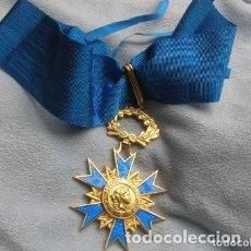 Militaria: ESPECTACULAR ORDEN FRANCESA ENCOMIENDA DEL MERITO CIVIL. GRADO DE COMANDANTE. AÑO 1963. GRAN TAMAÑO.. Lote 241895045