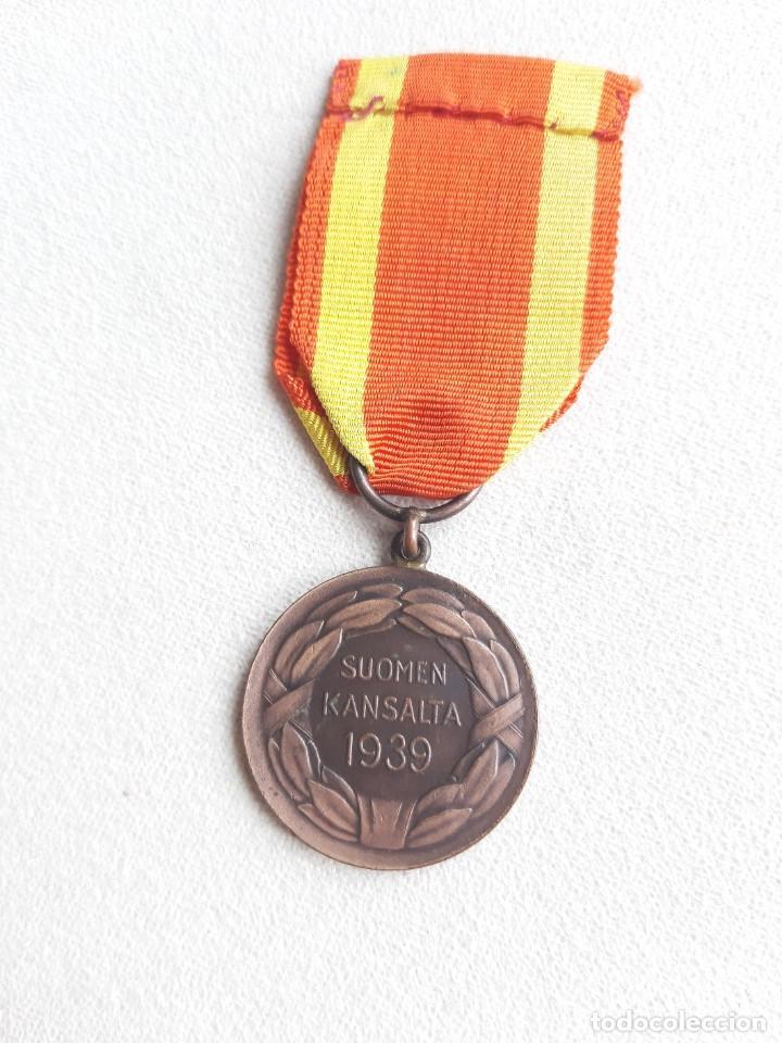 Militaria: WW2. FINLANDIA. MEDALLA DE LA LIBERTAD. GUERRA DE INVIERNO. 1939 - Foto 2 - 242059560