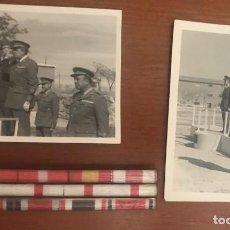 Militaria: PASADOR DE DIARIO OFICIAL DIVISIÓN AZUL Y DOS FOTOGRAFÍAS. Lote 242846400