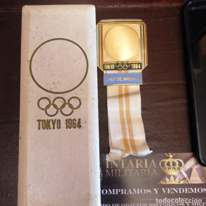 MEDALLA DE JEFE DE DELEGACIÓN OLÍMPICA EN JAPÓN 1964 (Militar - Medallas Extranjeras Originales)