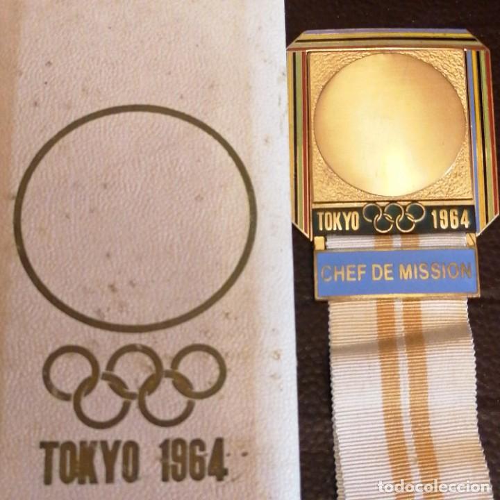 Militaria: Medalla de Jefe de delegación olímpica en Japón 1964 - Foto 2 - 242936215