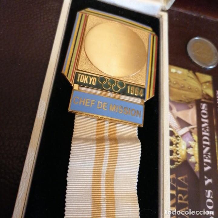 Militaria: Medalla de Jefe de delegación olímpica en Japón 1964 - Foto 4 - 242936215